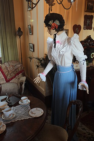 Shantytown Heritage Park - Victorian decorations and clothes on display
