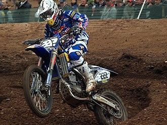 Mallory Park - Antonio Cairoli, riding a FMI Yamaha YZ450F, winning the FIM MX2 round at Mallory Park 2008