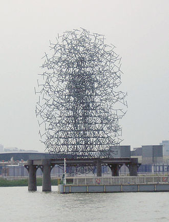 Random walk - Antony Gormley's Quantum Cloud sculpture in London was designed by a computer using a random walk algorithm.