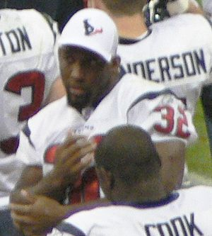 Antowain Smith - Antowain Smith during a Houston Texans preseason game in 2006.