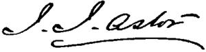 John Jacob Astor III - Image: Appletons' Astor John Jacob (capitalist) signature