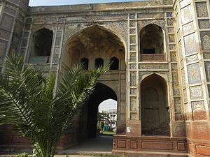 Chauburji - A view of Chauburjis iwans