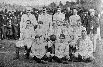 History of the Argentina national football team - Argentine team before playing its first official match ever, v. Uruguay, on July 27, 1902. This is also the first photo recorded of a national team.