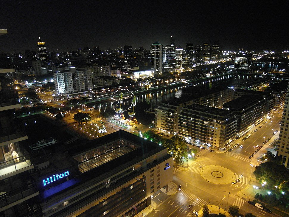 Argentinien Buenos Aires Nacht Puerto Madero