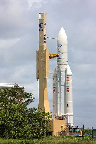 Ariane 5 - Ariane 5 ES with ATV-4 on board on its way to the launch pad in June 2013