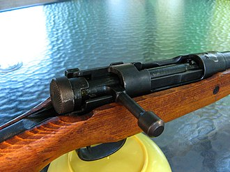Type 99 rifle - Image: Arisaka Type 99 boltlocked