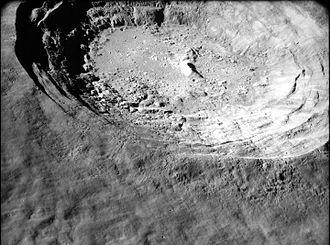 Aristarchus (crater) - Oblique closeup from Apollo 15. NASA photo.