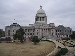 O Capitolio d'Arkansas en Little Rock