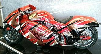 Arlen Ness - A streamlined motorcycle by Arlen Ness