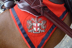 Shabrack - The arms of the City of London on a shabraque used on ceremonial occasions by the City of London Police