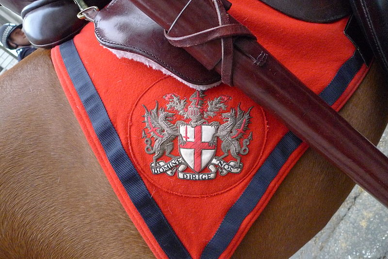 Arms of the City of London on an horse blanket 2011.jpg