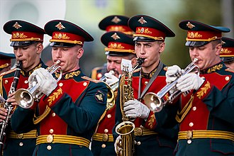 Special Exemplary Military Band of the Guard of Honor Battalion of Russia - The band in 2016.