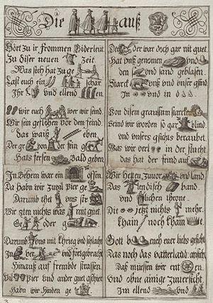 Rebus - A German rebus, circa 1620.