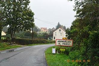Arpheuilles-Saint-Priest - The road into Arpheuilles-Saint-Priest