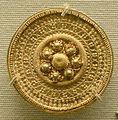 Arte etrusca, orecchino d'oro con filigrana, 530-500 ac..JPG