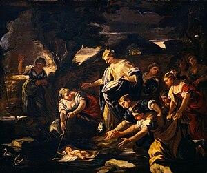 Giuseppe Simonelli - Mosè salvato dalle acque, 1675–1680 (Fondazione Cariplo)