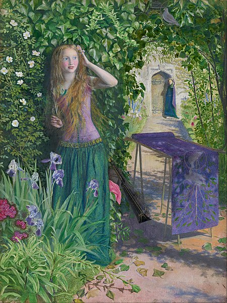 https://upload.wikimedia.org/wikipedia/commons/thumb/3/3c/Arthur_Hughes_-_Fair_Rosamund_-_Google_Art_Project.jpg/450px-Arthur_Hughes_-_Fair_Rosamund_-_Google_Art_Project.jpg