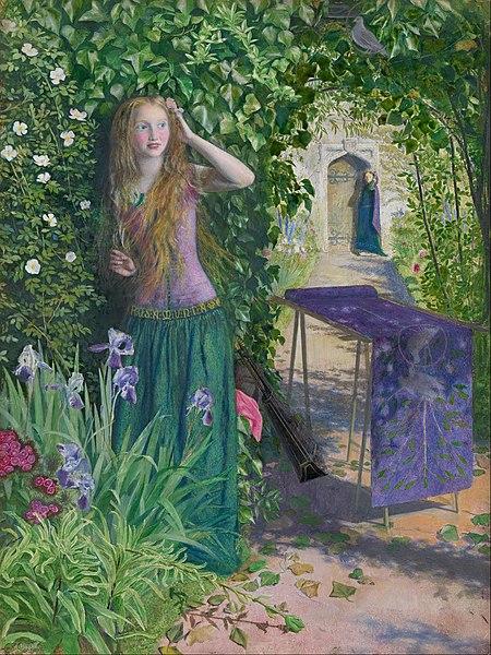 https://upload.wikimedia.org/wikipedia/commons/thumb/3/3c/Arthur_Hughes_-_Fair_Rosamund_-_Google_Art_Project.jpg/450px-Arthur_Hughes_-_Fair_Rosamund_-_Google_Art_Project.jpg