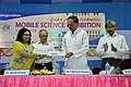 Arundhaty Ghosh and Manish Gupta Hold Special Postal Cover - Inaugural Function - MSE Golden Jubilee Celebration - Science City - Kolkata 2015-11-17 4960.JPG