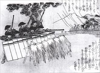 Japanese invasions of Korea (1592–98) - Japanese infantry employing fusillade tactics using Tanegashima matchlocks