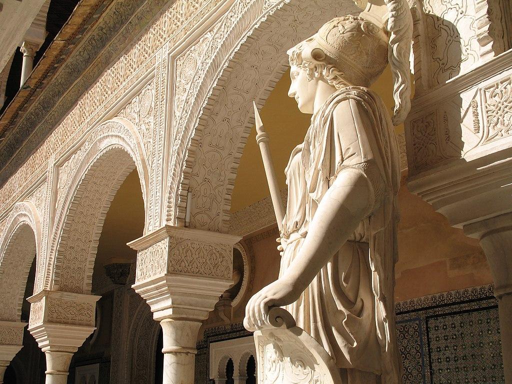 Statue romaine d'Athena dans la Maison de Pilate à Séville - Photo de 3Félix