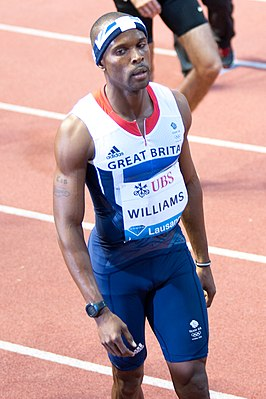 Conrad Williams tijdens de Athletissima in 2012.
