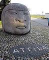 Attila-Denkmal vor der Attila-Mehrzweckhalle, geschaffen von Rainer Stiefvater.jpg