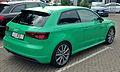 Audi A3 S line TFSI Porschegrün Heck.jpg