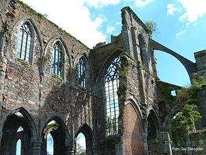 Aulne Abbey - Aulne: ruins of the Abbey church