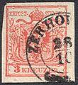 Austria 1850 3Kr IIIa HP ZERHOWITZ.jpg