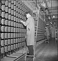 Automatic Telephone Exchange- Communications in Wartime, London, England, UK, 1945 D23693.jpg