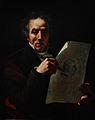 Autoportrait dessinant le portrait de Louis XVIII le Désiré.jpg