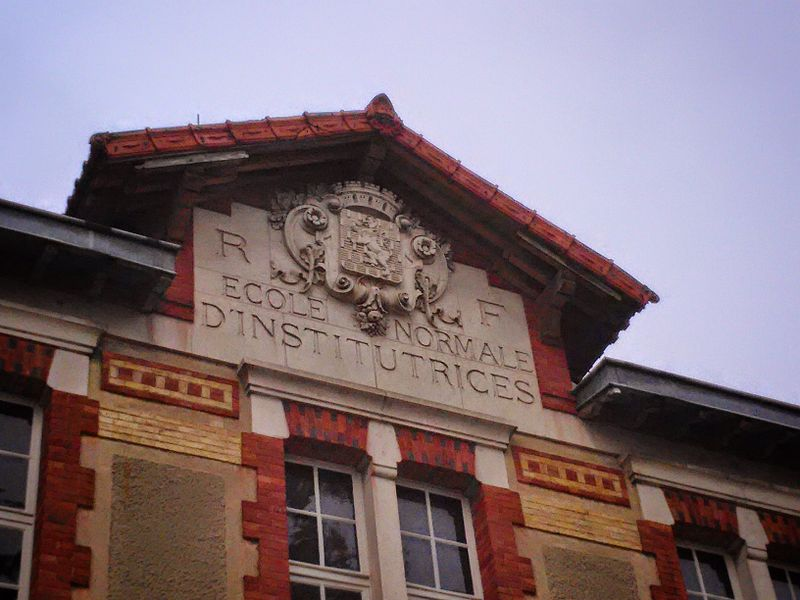 Anciennce école normale d'institutrices, désormais rattachée à ESPE et l'Université de Bourgogne, Auxerre, Yonne, Bourgogne, France