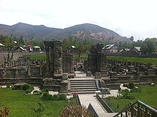 Awantipora Town in Jammu and Kashmir, India