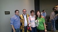 Avner and Darya's wiki Wedding at Wikimania by ovedc 27.jpg