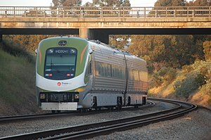 AvonLink - Avonlink railcars going under the Great Eastern Highway bridge in Swan View in October 2009