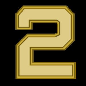 Terrence R. Dake - Image: Award Numeral 2 golden