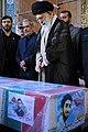 Ayatollah Khamenei in Funeral of Mohsen Hojaji in Tehran 05.jpg