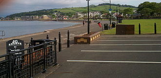 Largs - Ayrshire coast at Largs, Scotland looking north