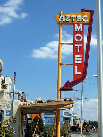 Aztec Motel - Aztec Motel sign seen from Central Ave.