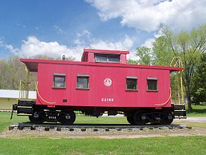 Holloway, Ohio - B&O caboose C-2198 in the village park