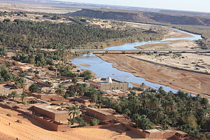 Oued Saoura - The Oued Saoura at Béni Abbès