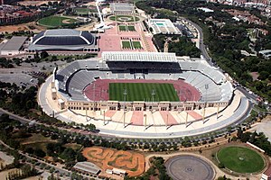 Sport in Barcelona - Estadi Olímpic de Montjuïc (Barcelona Olympic Stadium), built for missed the 1936 Summer Olympics (''People's Olympiad'') and later, main arena of 1992 Summer Olympics.