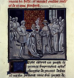 Cecile of France - Marriage of the daughters of Philippe Ier Guillaume de Tyr, Historia