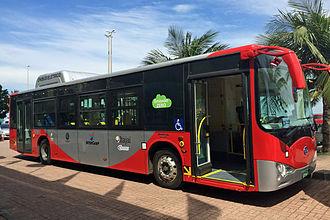 BYD K9 - BYD K9 electric bus in Rio de Janeiro