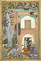 Babur entertains in Sultan Ibrahim Lodi's palace.jpg