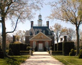 Williamsburg, Virginia - The Williamsburg Governor's Palace in 2000.