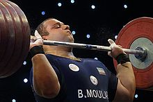 Bahador Molaei in the second place of 2016 Fajr Cup in the men's +105 kg category.jpg