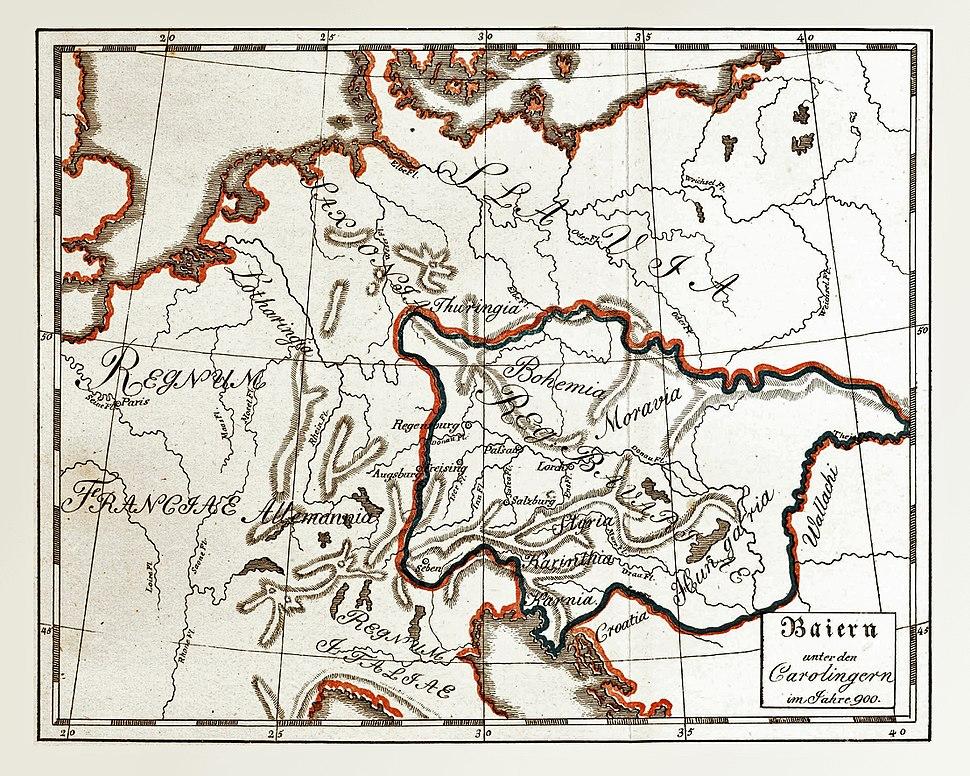 Baiern unter den Carolingern im Jahre 900