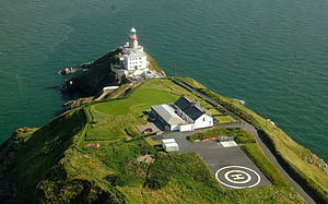 Baily Lighthouse - Baily Lighthouse on Howth Head - Helicopter Approach